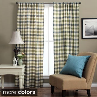Plymouth 72-inch Plaid Woven Tailored Curtain Panels (Set of 2) - 42 x 72