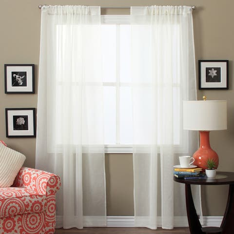 Lucerne Sheer 96-inch Curtain Panel Pair - 52 x 96 - 52 x 96