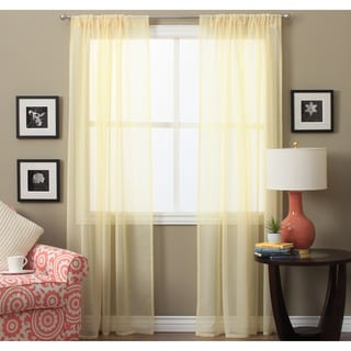 Lucerne 84-inch Sheer Curtain Pair Panel - 52 x 84