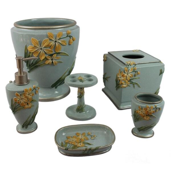 Sherry kline villa flora bath accessory 6 piece set free for Bathroom collection sets