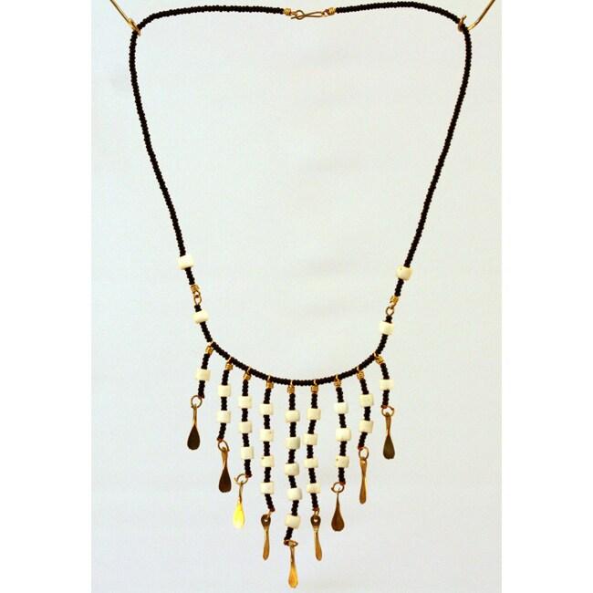 Recycled Metal Bead Bib Necklace (Kenya)