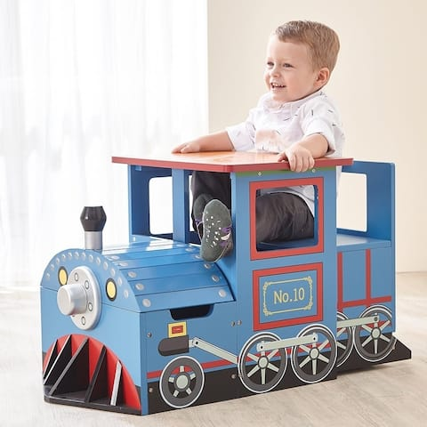 Teamson Kids - Little Captain Train chief Play Table & Chair Set