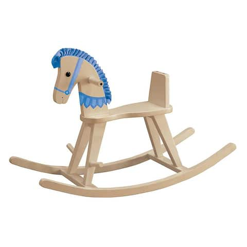 Teamson Kids Blue Convertible Rocking Horse