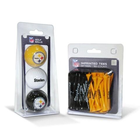 Pittsburgh Steelers NFL Golf Ball and Tee Set