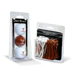 Texas Longhorns NCAA Golf Ball and Tee Set