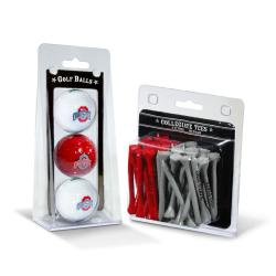 Ohio State Buckeyes NCAA Golf Ball and Tee Set