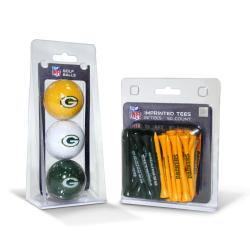 Green Bay Packers NFL Golf Ball and Tee Set