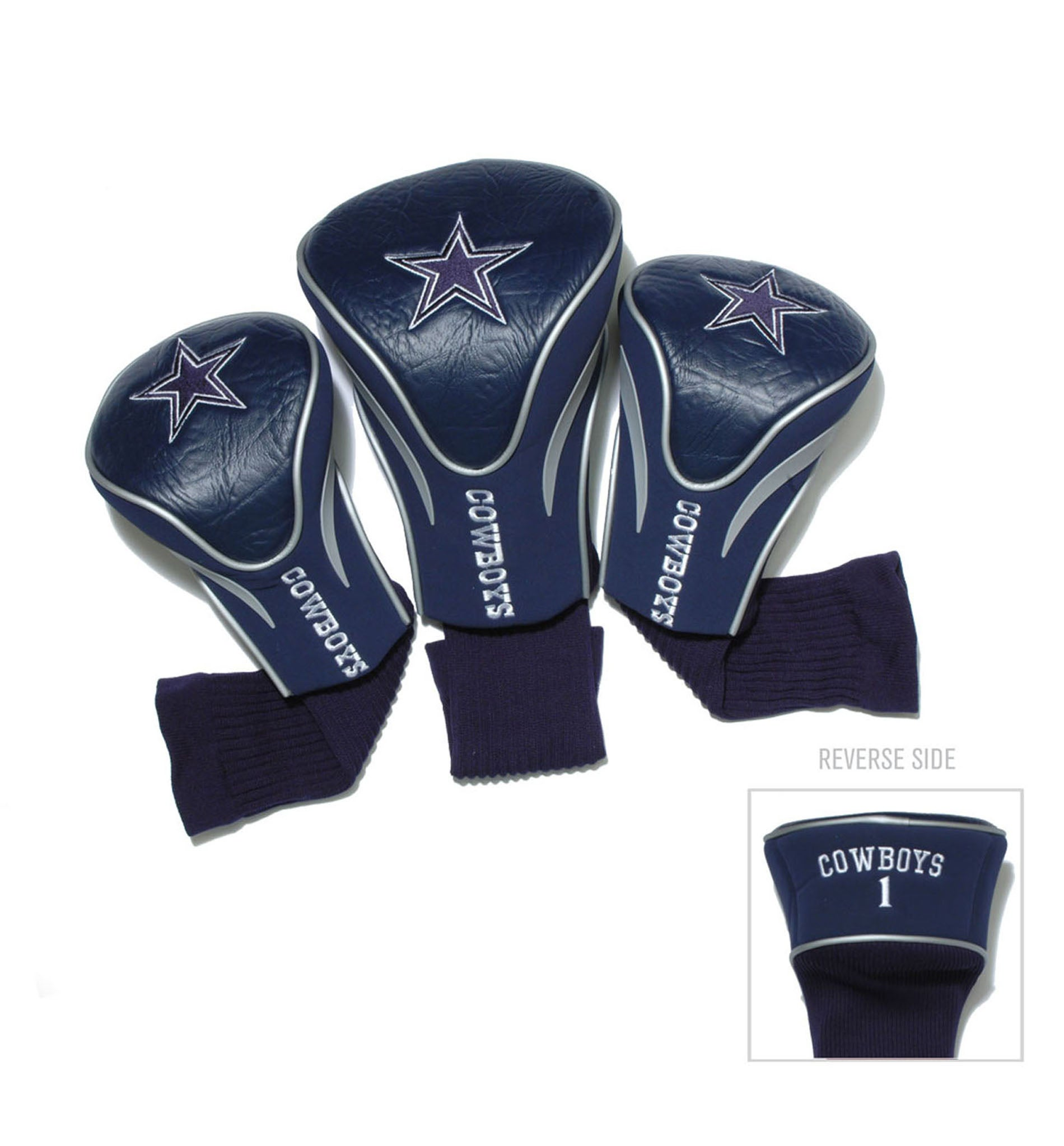 Dallas Cowboys NFL Contour Wood Headcover Set