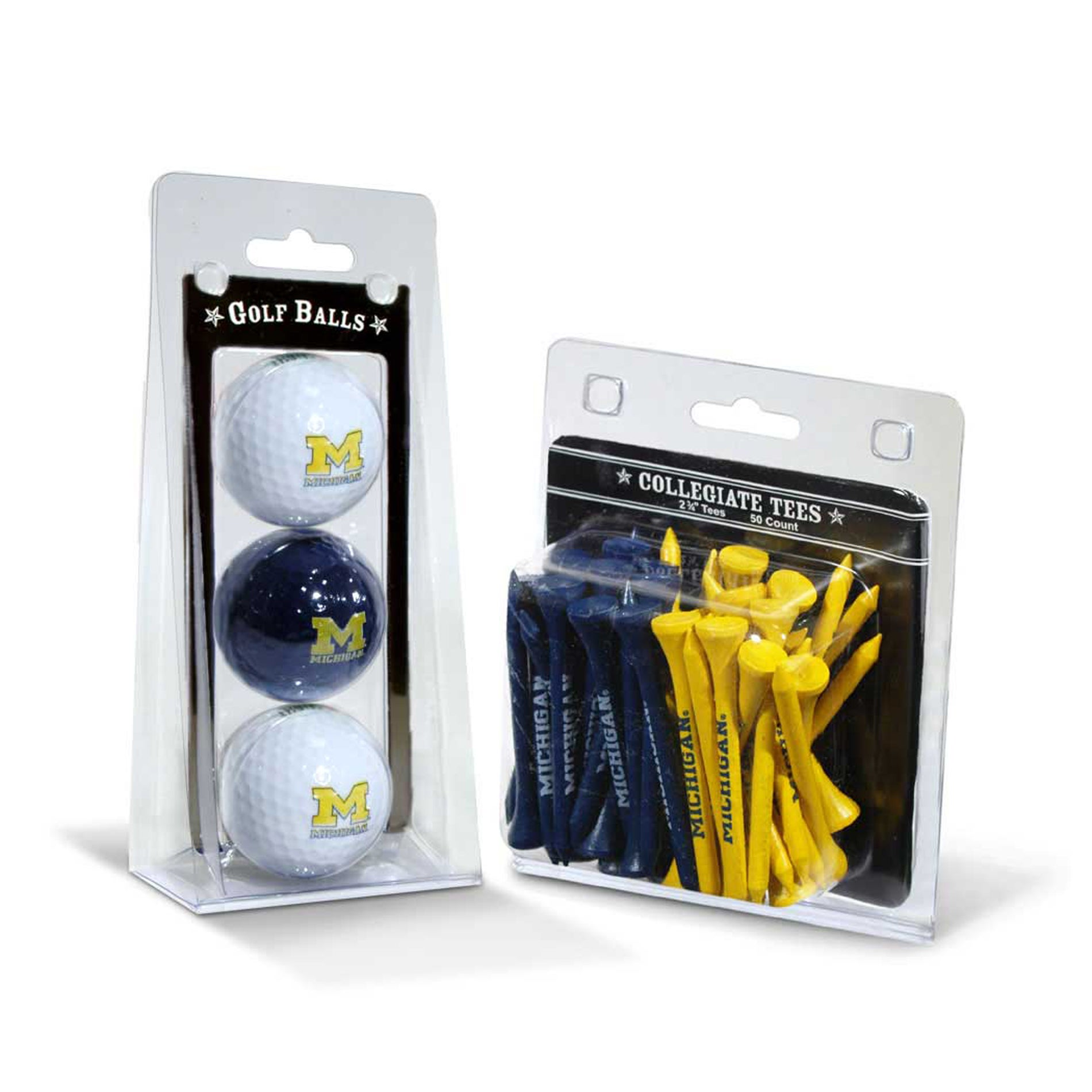 Michigan Wolverines NCAA Golf Ball and Tee Set