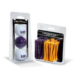 LSU Tigers NCAA Golf Ball and Tee Set