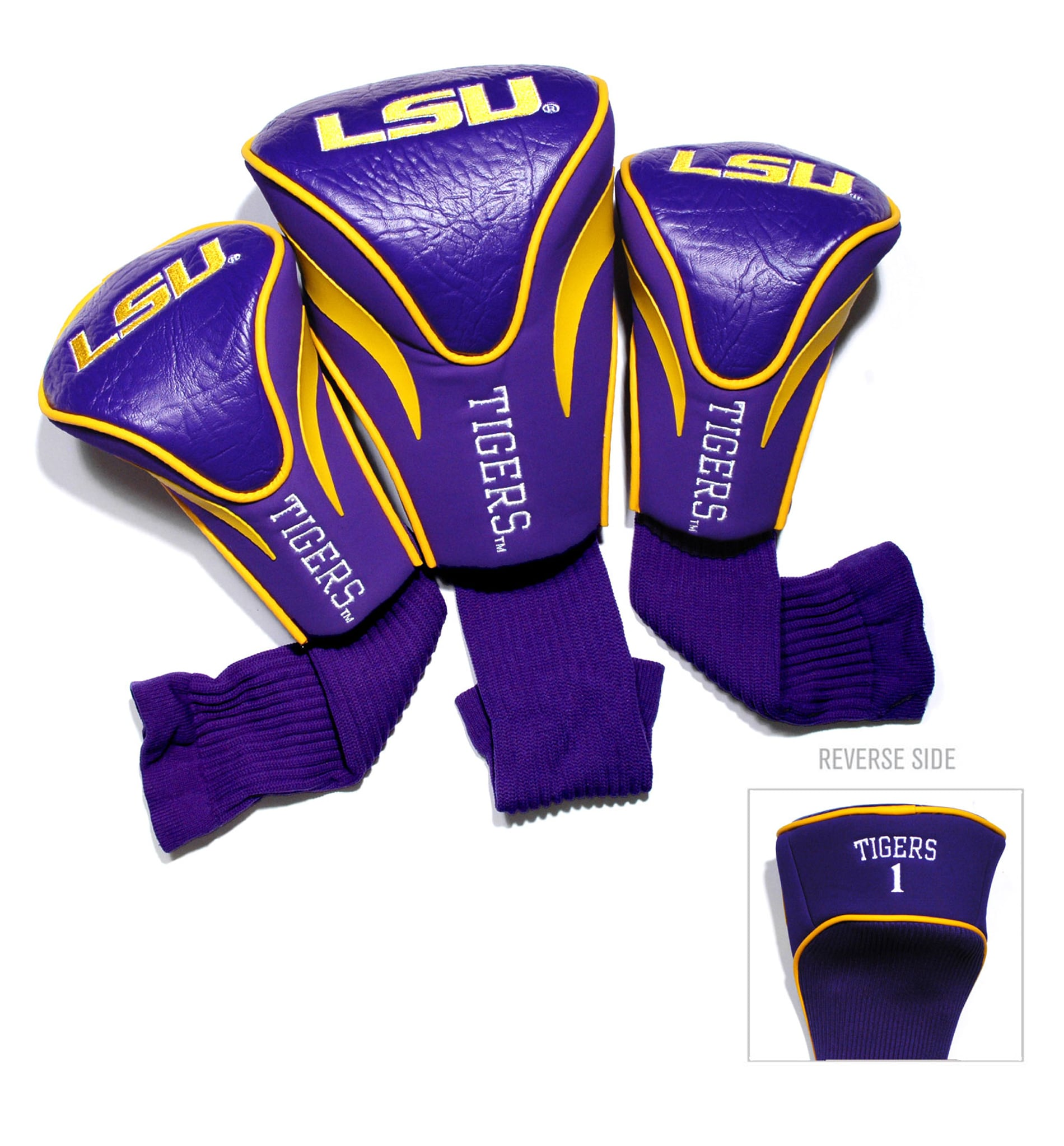 LSU Tigers NCAA Contour Wood Headcover Set