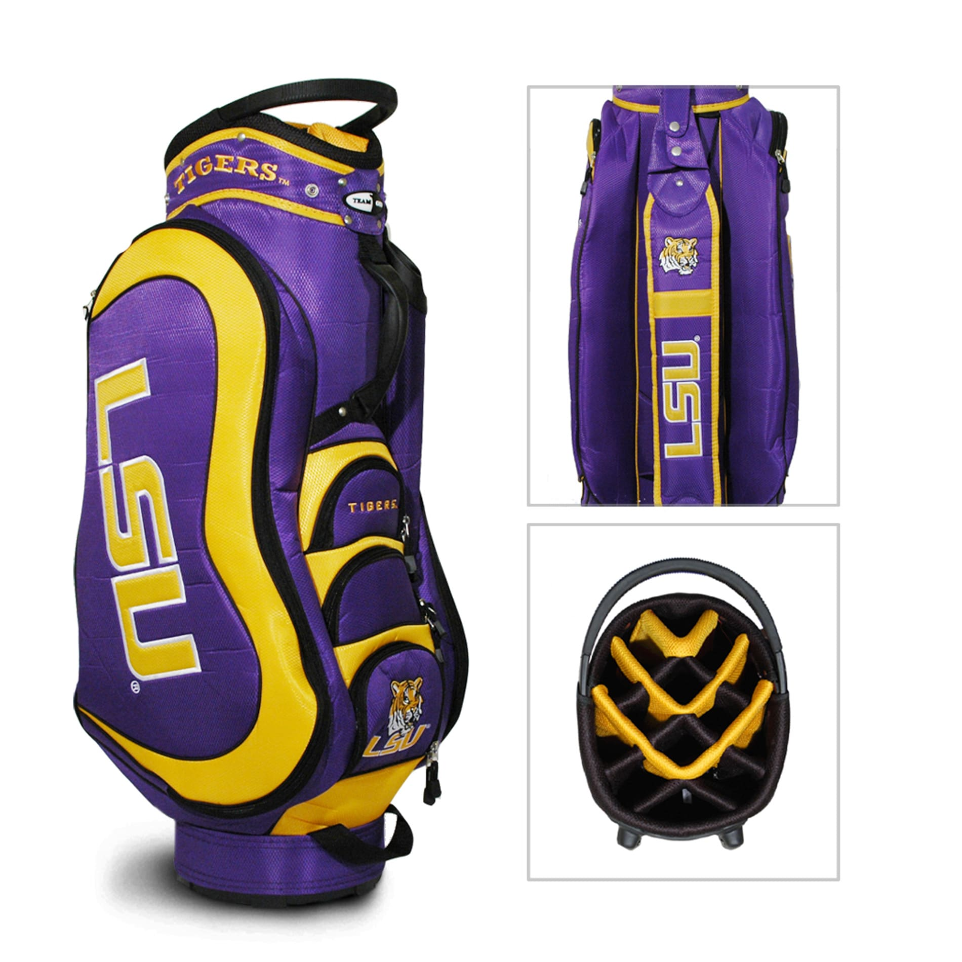 LSU Tigers NCAA Medalist Cart Golf Bag