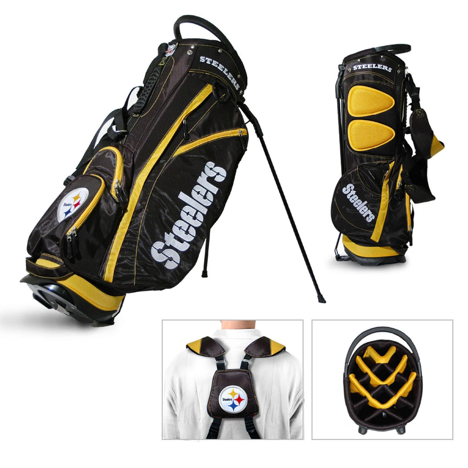 Pittsburgh Steelers NFL Fairway Stand Golf Bag