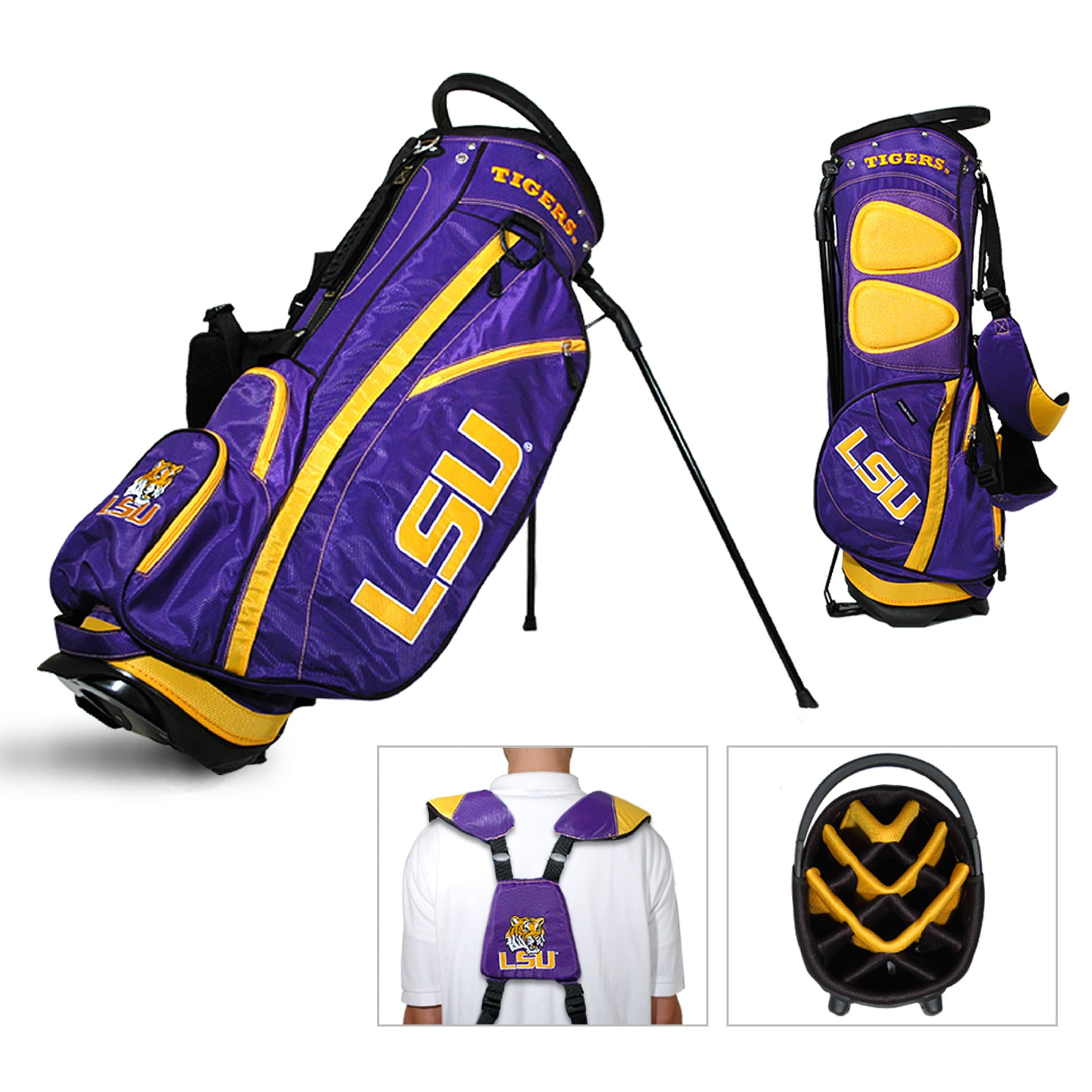 LSU Tigers NCAA Fairway Stand Golf Bag