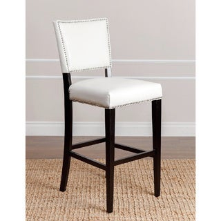 Abbyson Napa Ivory Leather Bar Stool