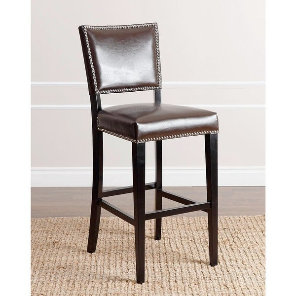 Abbyson Napa 30-inch Brown Leather Bar Stool  sc 1 st  Overstock.com & Abbyson Napa 30-inch Brown Leather Bar Stool - Free Shipping Today ... islam-shia.org