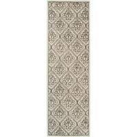 Hand-tufted Kunlun Contemporary Geometric Wool Area Rug - 2'6 x 8'