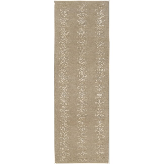 Hand-tufted Sayan Geometric Pattern Wool Rug (2'6 x 8')