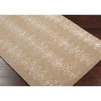 Hand-tufted Sayan Geometric Pattern Wool Area Rug - 2'6 x 8'
