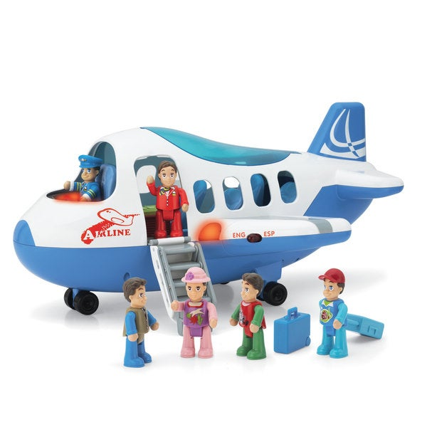 Happy Kid Toy Group Jet Plane English And Spanish Activity