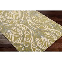 Hand-tufted Totes BoGreenical Pattern Wool Area Rug - 2'6 x 8'