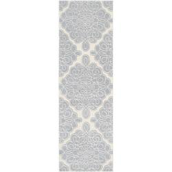 Hand-tufted Lechtal Geometric Pattern Wool Rug (2'6 x 8')