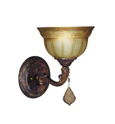 Woodbridge Lighting Lucerne 1-light Old World Bronze Bath Sconce - Thumbnail 0