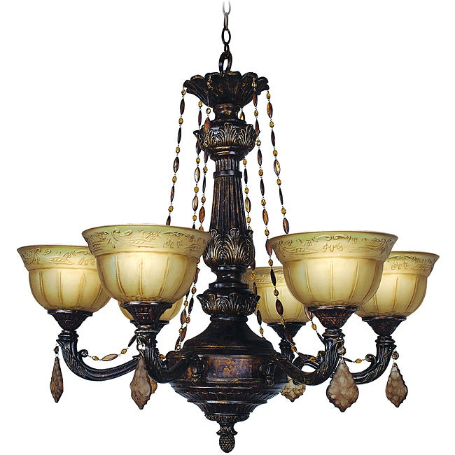 Woodbridge Lighting Lucerne 6-light Old World Bronze Chandelier - Free Shipping Today ...