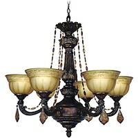 Woodbridge Lighting Lucerne 6 Light Old World Bronze Chandelier