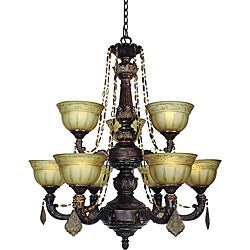 Woodbridge Lighting Lucerne 9-light Old World Bronze Chandelier