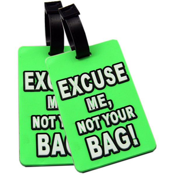 Shop Naftali Green Excuse Me Not Your Bag Rubber