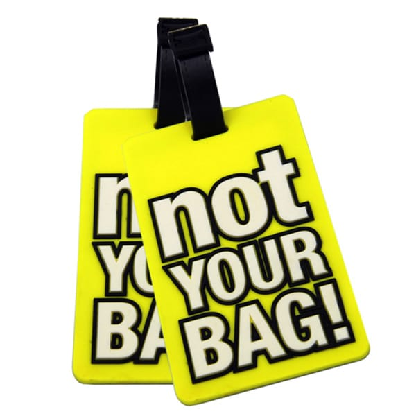Naftali Yellow 'Not Your Bag' Rubber Luggage ID Tag (set of 2)