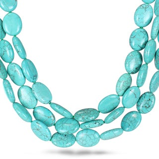 Miadora Turquoise Bead 3-strand Necklace