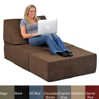 Comfort Lounge Memory Foam Chair/Ottoman Set Lounging Sectional