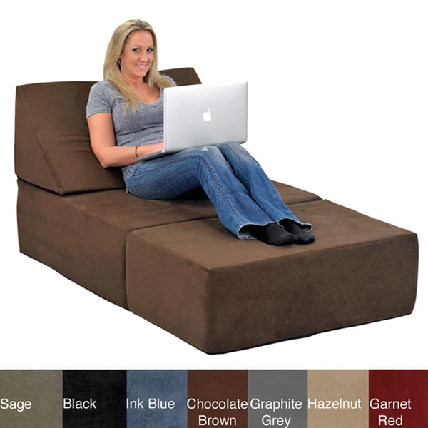 Comfort Lounge Memory Foam Chair Ottoman Set Lounging