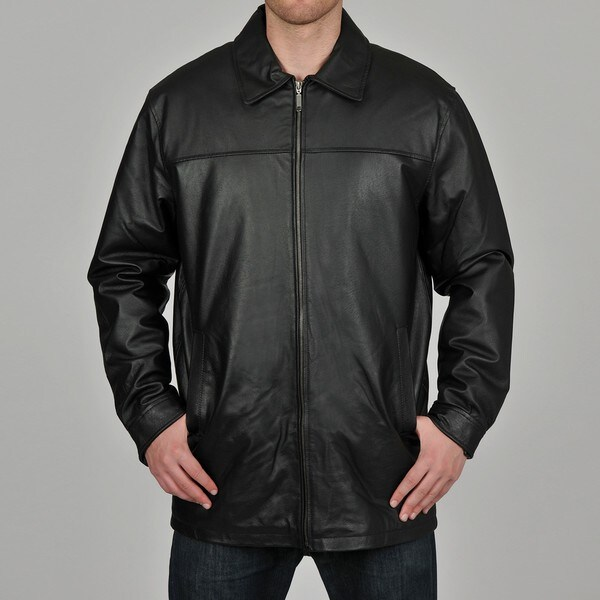 Knoles & Carter Men's Black Big & Tall Long Open-Bottom Style Jacket
