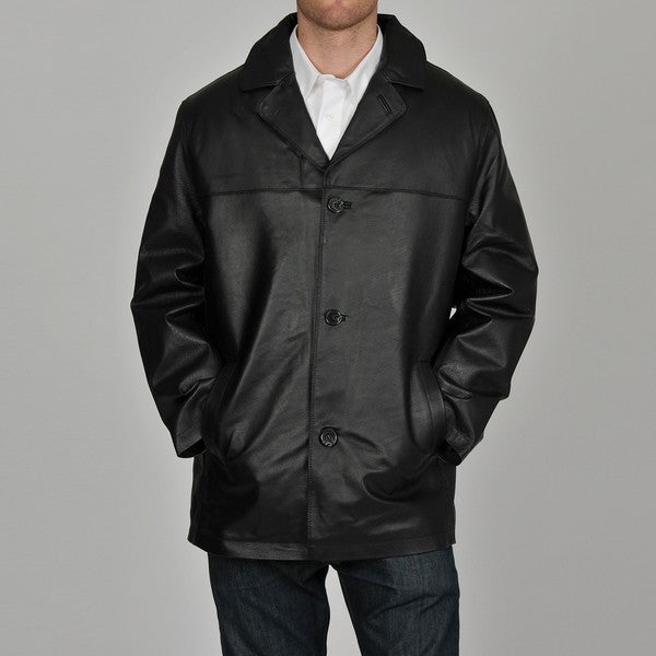 ad91450f773d5 Shop Knoles   Carter Men s Big   Tall Double Stitch Leather Car Coat - Free  Shipping Today - Overstock.com - 6336019