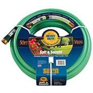 "Swan Soft Supple 5/8""x75' Reinf Rubber/vinyl Garden Hose"