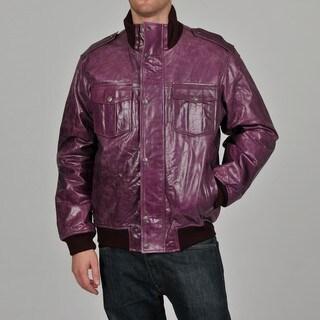 Knoles & Carter Men's Classic Urban Bomber Leather Jacket