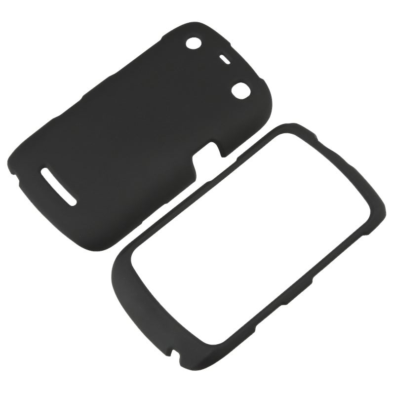 INSTEN Black Snap-on Rubber Coated Phone Case Cover for BlackBerry Curve 9350/ 9360/ 9370