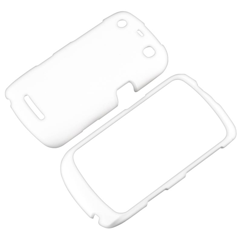 INSTEN White Snap-on Rubber Coated Phone Case Cover for BlackBerry Curve 9350/ 9360/ 9370
