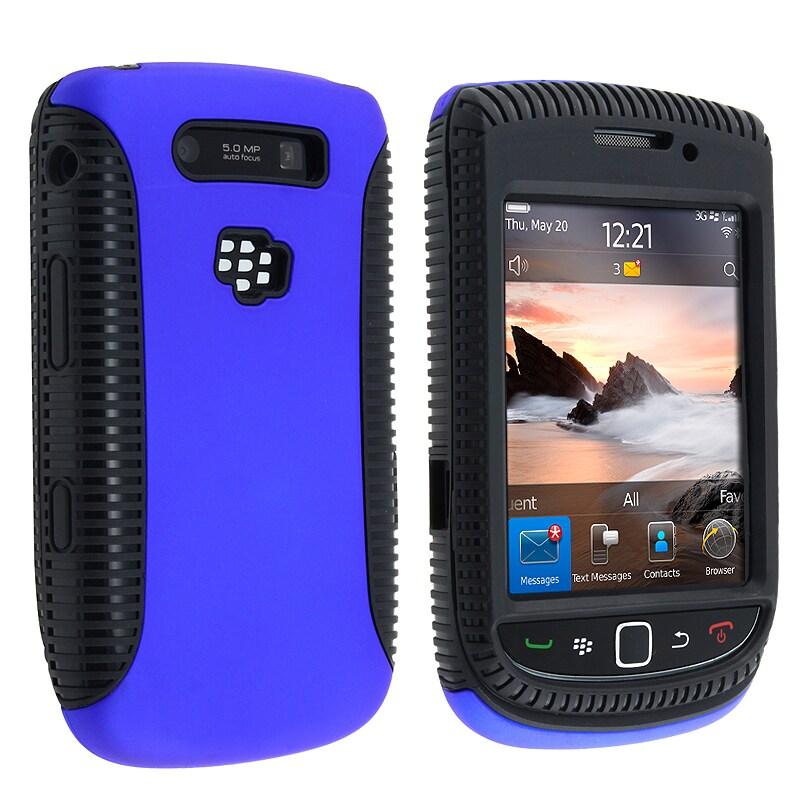 Black TPU/ Blue Plastic Hybrid Case for BlackBerry Torch 9800/ 9810