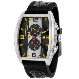 Stuhrling Original Millennia Turbine Swiss Quartz Chronograph Watch