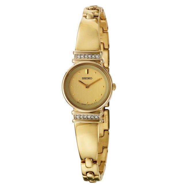 Seiko Women's 'Dress' Stainless and Yellow Goldplated Steel Quartz Watch