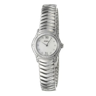 Ebel Women's 'Classic Wave' Stainless Steel 84 Diamond Quartz Watch