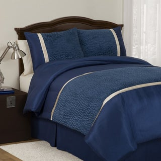 Lush Decor Royal Blue Animal Plush Full-size 4-piece Comforter Set