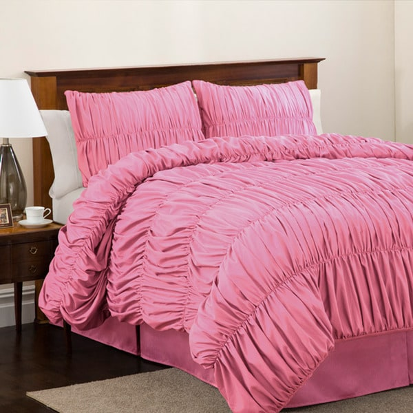 Lush Decor Pink Venetian Twin-size 3-piece Comforter Set