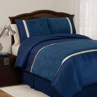 Lush Decor Royal Blue Animal Plush 3-piece Twin-size Comforter Set