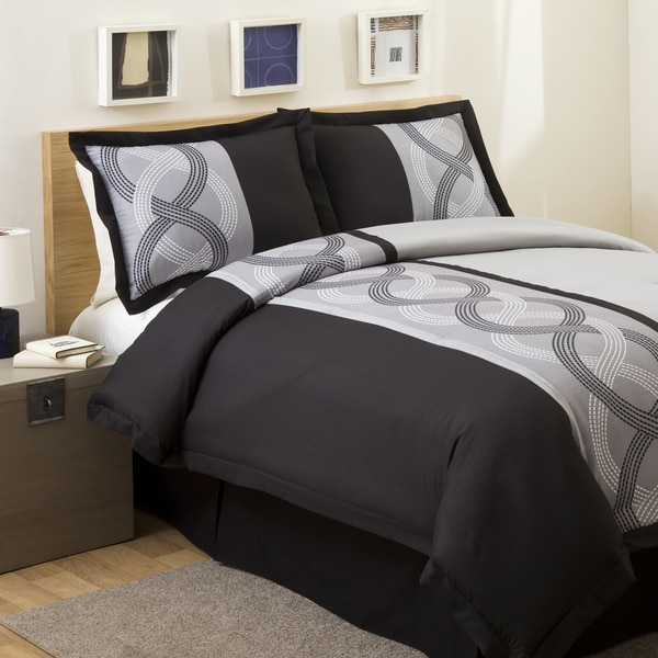 Lush Decor Grey Talon Print Twin-size 3-piece Comforter Set