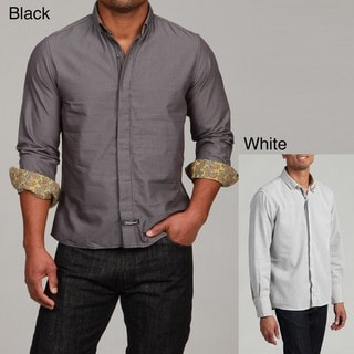 English Laundry by Scott Weiland Men's The Downs Woven Shirt